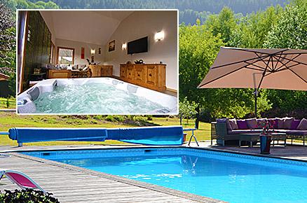 Le Clos des Aulnes Anould piscine spa